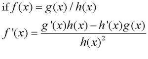 Formal definition for the quotient rule