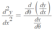 second derivative of a parametric function