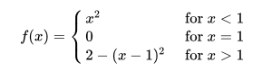 jump discontinuity examples