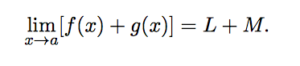 Limit of Sum & Difference : Sum Law