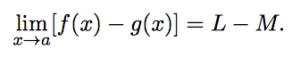 limit of sum & difference. : difference law