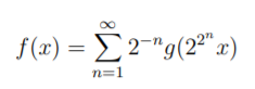 nowhere differentiable