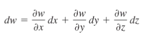 three variable total derivative