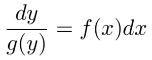 separation of variables multiply both sides of the equation