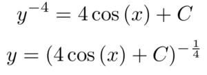 separation of variables differential equation example