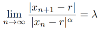 rate of convergence