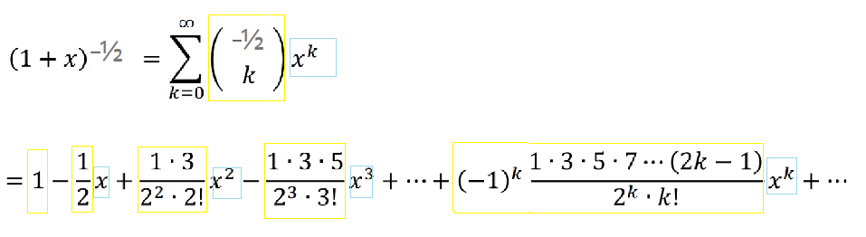 solution for binomial expansion