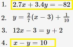standard form example solution