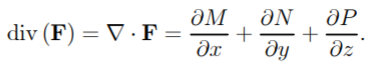 divergence of a vector field