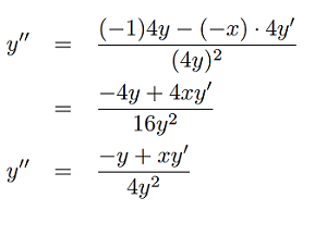 finding the second derivative implicitly step 4
