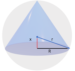 volume of cone finding volume step 3