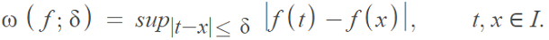formula for modulus of a function