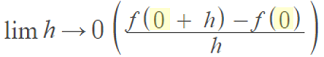finding the tangent line at x = 0