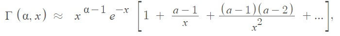 incomplete gamma series approximation