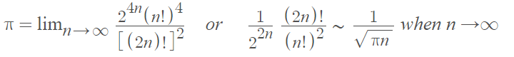 definition as limit and factorials