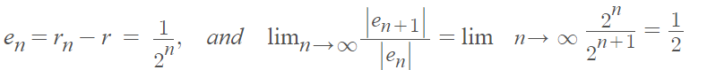 order of convergence example 1
