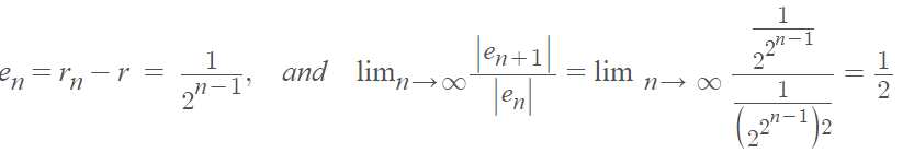 order of convergence example 2